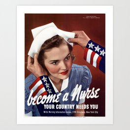 Become a Nurse Art Print