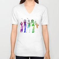 spice V-neck T-shirts featuring Spice Girls. by Greg21