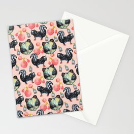 skunk perfume pattern Stationery Cards