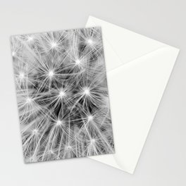 Black and white dandelion head Stationery Cards