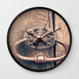 Rustic Door Knocker II Wall Clock