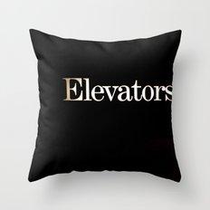 Elevators Throw Pillow