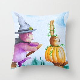 Halloween Parade Throw Pillow