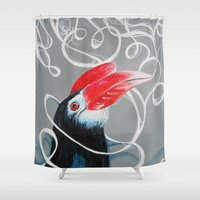 philippines Shower Curtains featuring Hornbill by Ma. Luisa Gonzaga