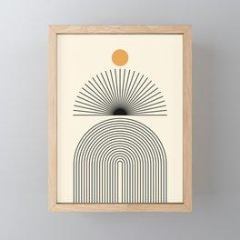 Abstraction_SUNLIGHT_SUNRISE_LINE_POP_ART_0993A Framed Mini Art Print