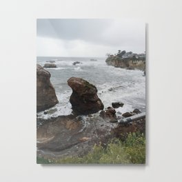 Shell Beach Rocks Metal Print