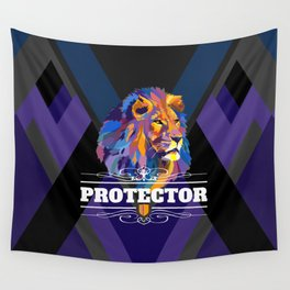 Protector: Lion Wall Tapestry