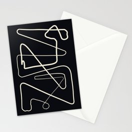 Movements Black Stationery Cards