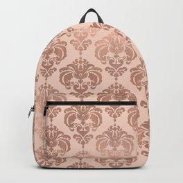 Rose Gold Damask Backpack