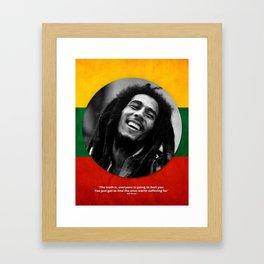 PEACE - LIFE - REGGAE Framed Art Print
