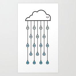 cloud and rain Art Print