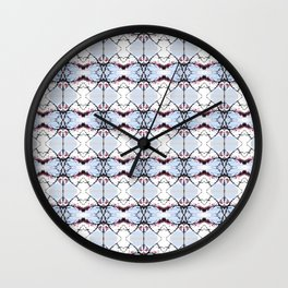 red Malus Radiant crab apple blossoms #7 pattern Wall Clock