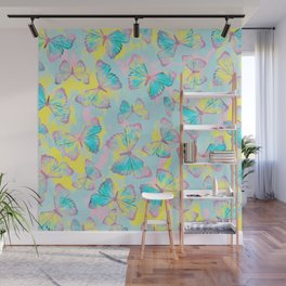 BUTTERFLIES YELLOW Wall Mural