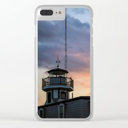 Lighthouse at Sunset Clear iPhone Case