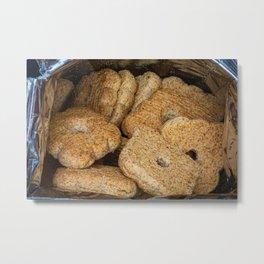 Homemade biscuits in aluminum paper bag Metal Print