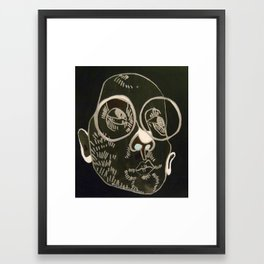 2 Moons and a Bottle Framed Art Print