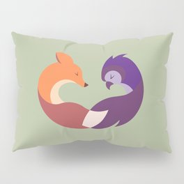 The Fox and the Owl Pillow Sham