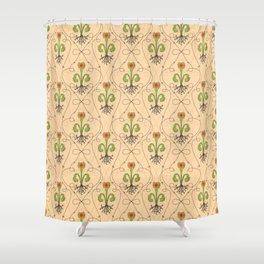 art nouveau venus fly trap fleur de lis Shower Curtain