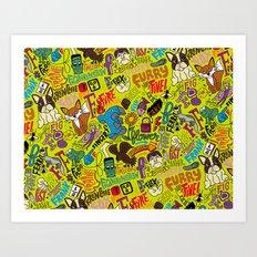 F Pattern Art Print