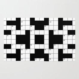 Cool Crossword Pattern Rug