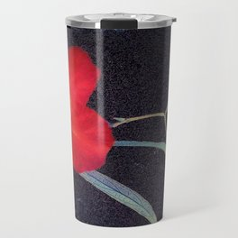 Breezy Rustic Red Flower Travel Mug