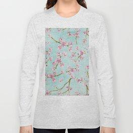 Spring Flowers - Cherry Blossom Pattern Long Sleeve T-shirt