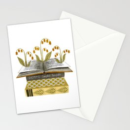 floral reading i Stationery Cards