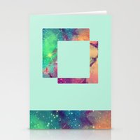 decal Stationery Cards featuring Space Decal by artii