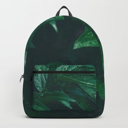 Green Leaves with Water Droplet - Nature Photography Backpack