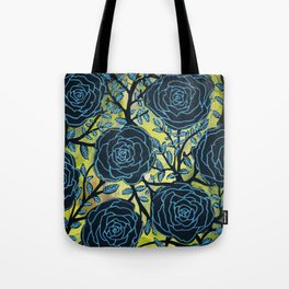 Black and Blue Tote Bag