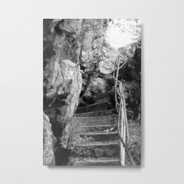 Tatzelwurm stairs black and white photography Metal Print