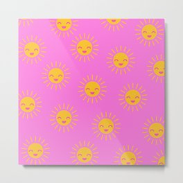 Little Sunshine (pink) Metal Print