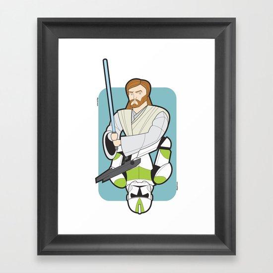 Obi-wan and Clone Trooper Framed Art Print
