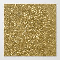 gold glitter Canvas Prints featuring GLITTER GOLD by isoncaDesign