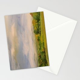 Scenic Autumn Late Afternoon in Vermont Nature Art Landscape Oil Painting Stationery Cards