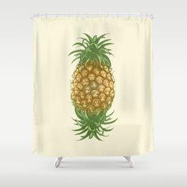 Genetically Engineered Pineapple Shower Curtain