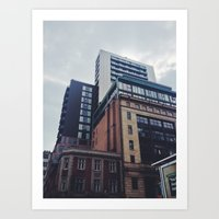 manchester Art Prints featuring Manchester  by Dave Hailes