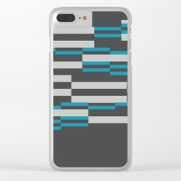 Rectangles Stripes grey background Clear iPhone Case