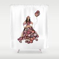 ballon Shower Curtains featuring Le Ballon // Birthday by annabours