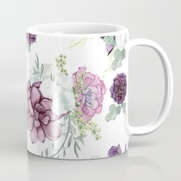 Succulents Deep Violet Lavender Pastel Green Lilac PatternSee Nature Magick for more pretty pastel c Coffee Mug