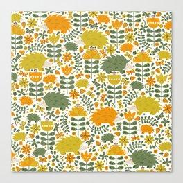 Autumn Hedgehog Forest Canvas Print