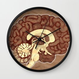 I love brains Wall Clock