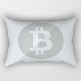 Bitcoin Silver Coin Rectangular Pillow