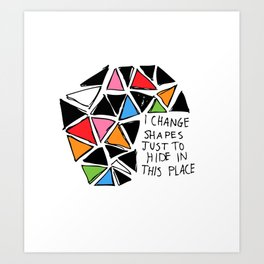 Colored Shapes Art Print