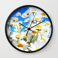 daisy Wall Clocks featuring DAISY by Ylenia Pizzetti