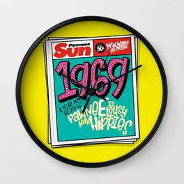 Lousy With Hippies (PAR102) Wall Clock