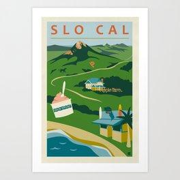 Retro San Luis Obispo Poster Art Print
