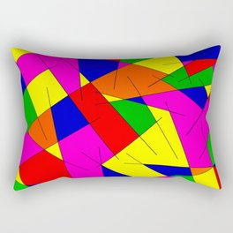 ABSTRACT LINES #1 (Multicolor Bright) Rectangular Pillow