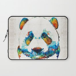 Colorful Panda Bear Art By Sharon Cummings Laptop Sleeve