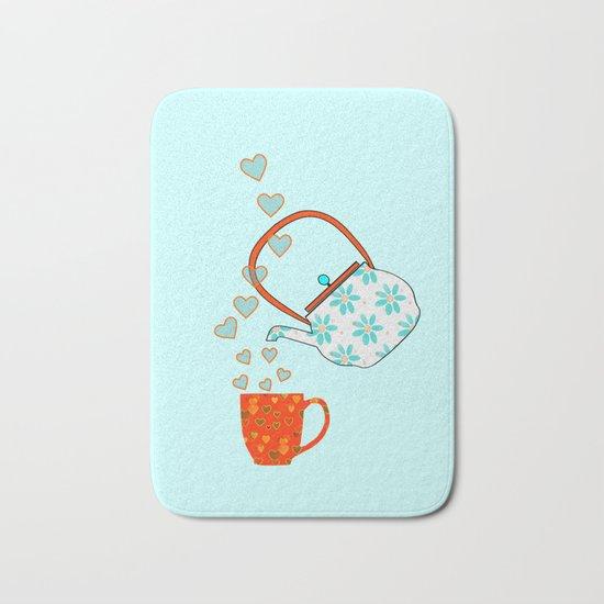 Tea Time Love Bath Mat